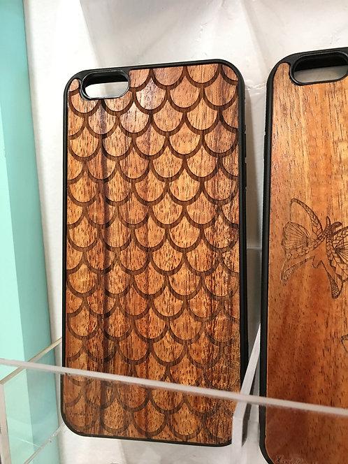 Koa Iphone Case, Scales/Mermaid