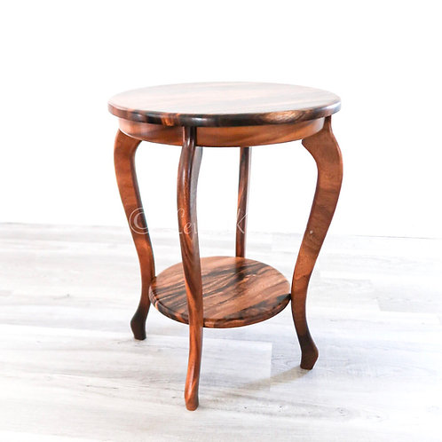 "24"" Two Tier End Table, Monkeypod"