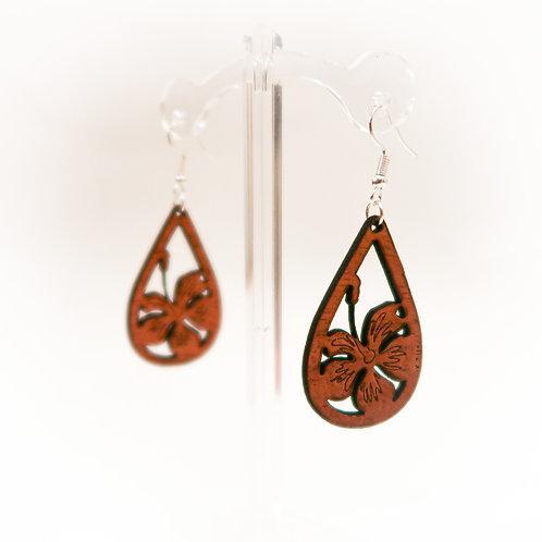 Hibiscus Koa Earring
