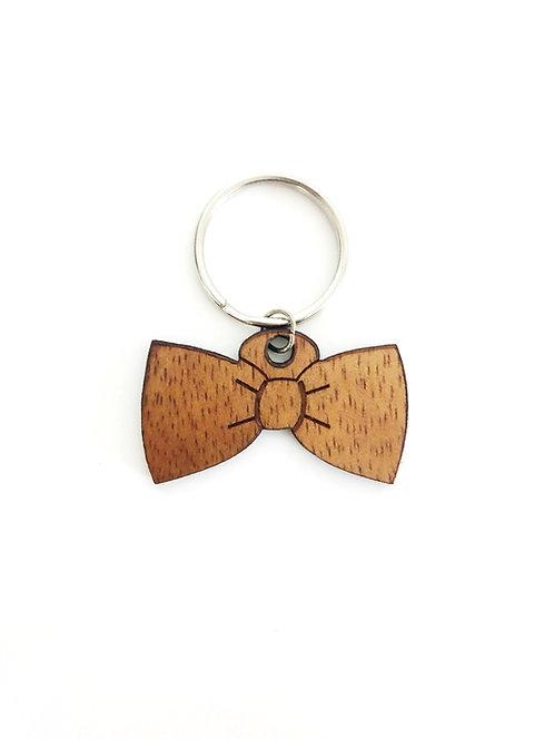Bowtie Koa Collar Charm