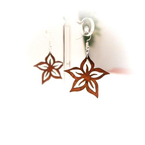 Plumeria Koa Earring