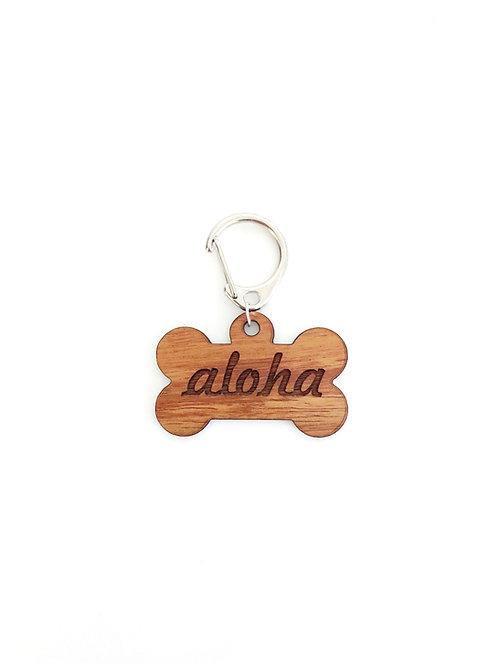"""""""Aloha"""" Bone Koa Collar Charm"""
