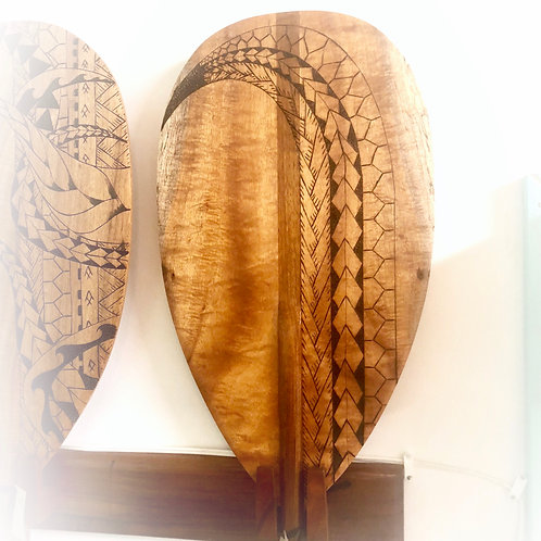 Koa Paddle w/ Tribal Pyrography (KPPY150)