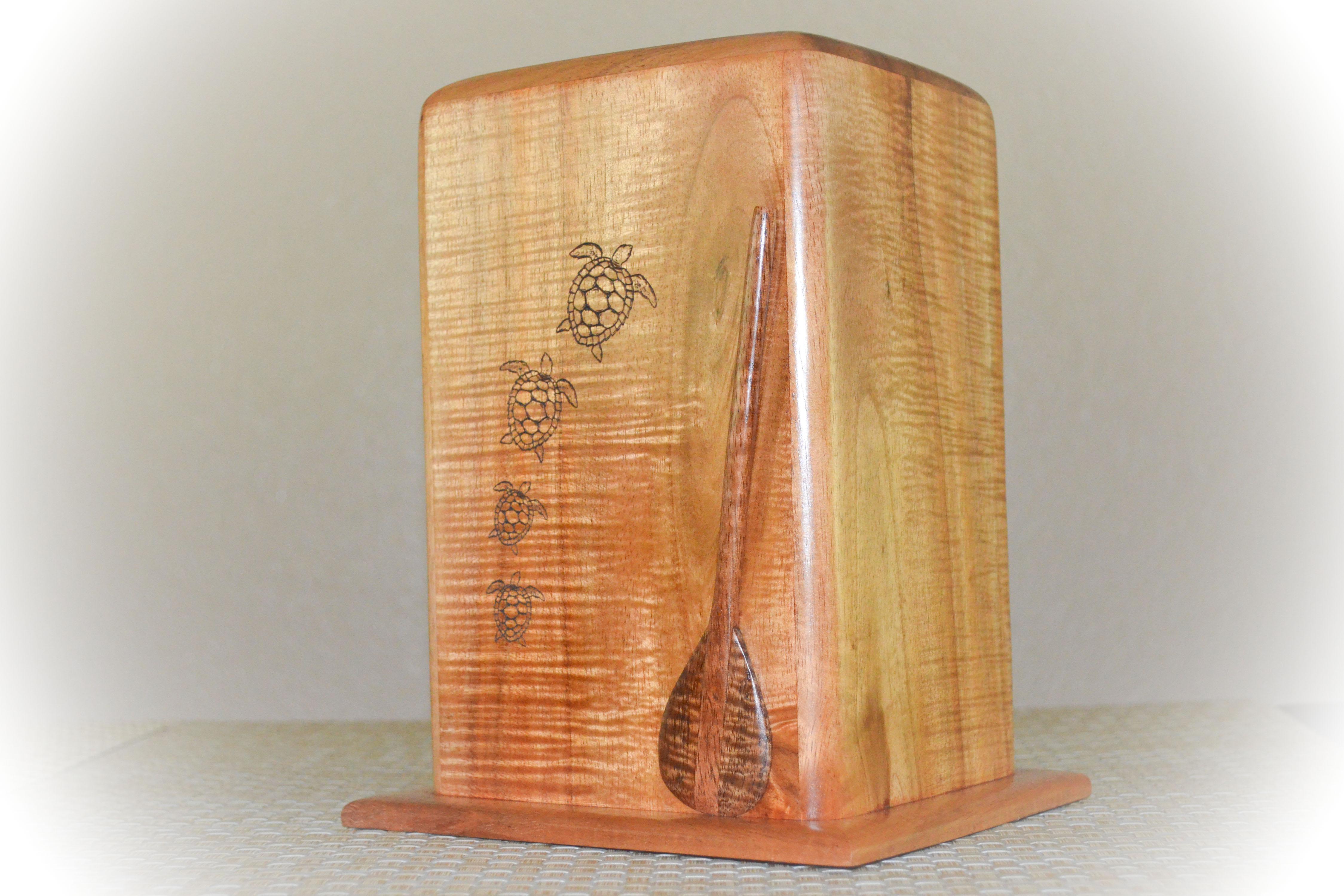 custome koa wood urn
