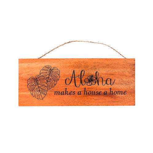 Aloha Home Wall Sign