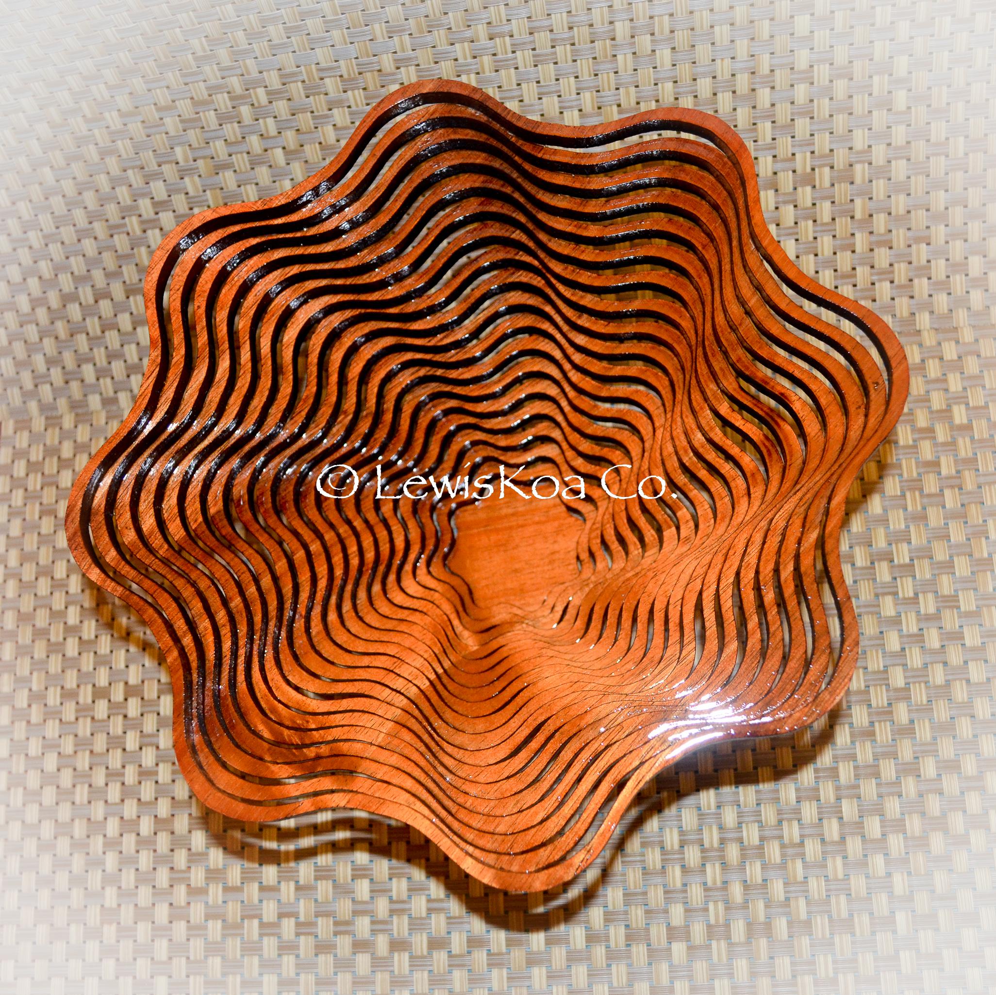 Hawaiian Koa wood laser bowl