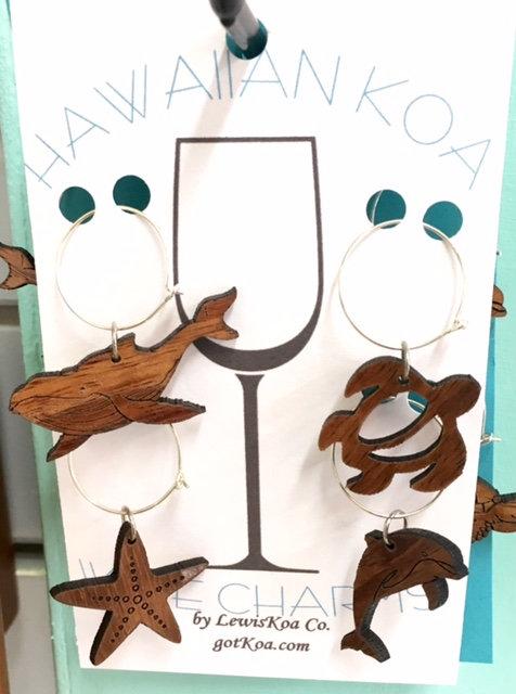 Koa Wine Glass Charms