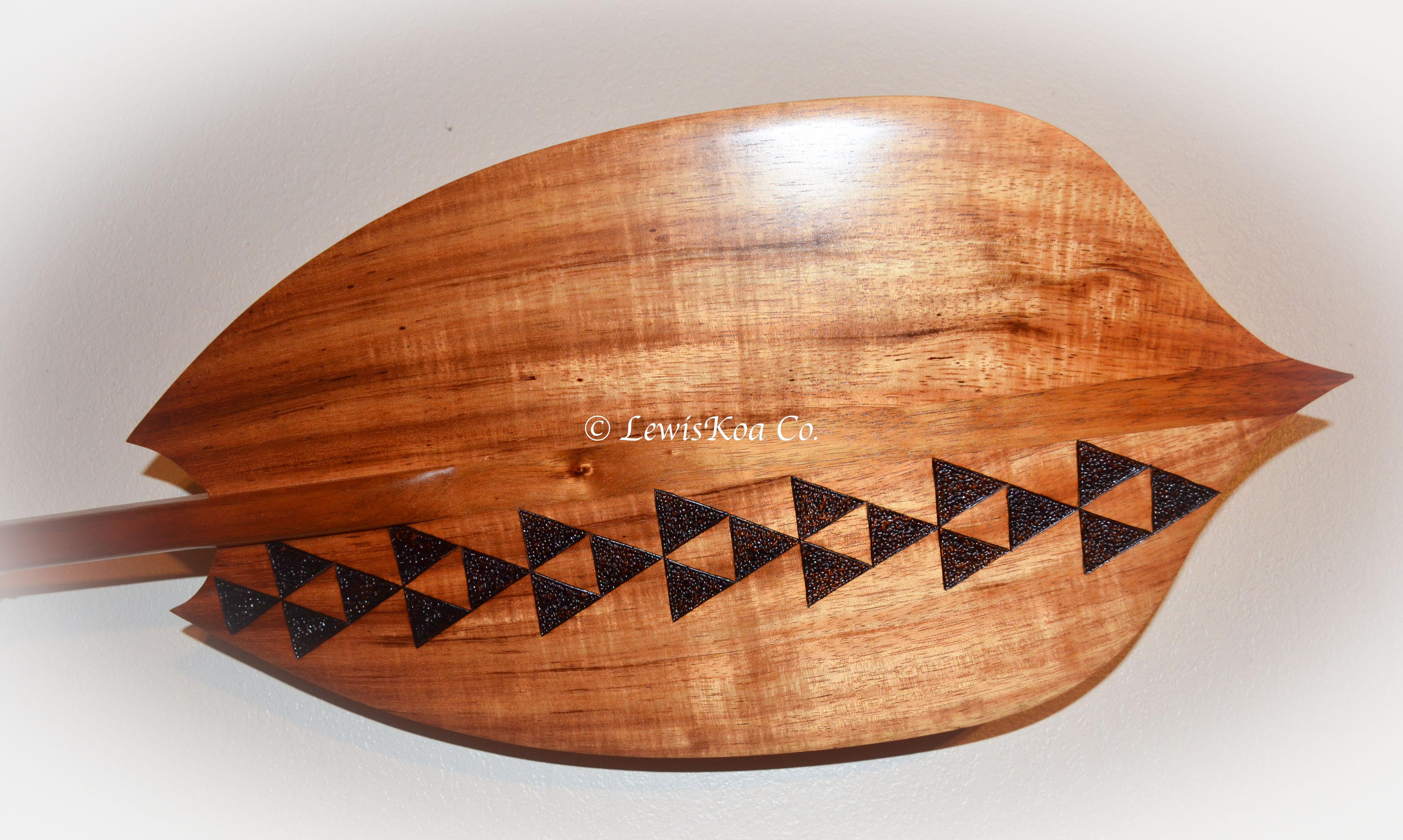 Pyrography paddle art