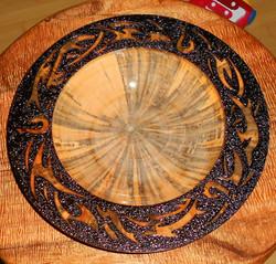 pyrography tribal platter