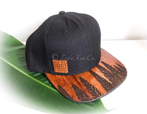 Koa Flatbill Cap, Black with Forest