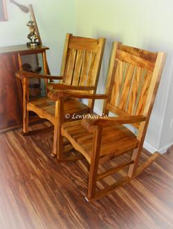Hawaiian Koa rocker chairs