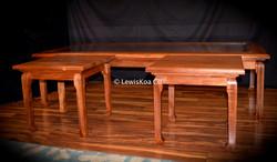 Hawaiian Koa Table set