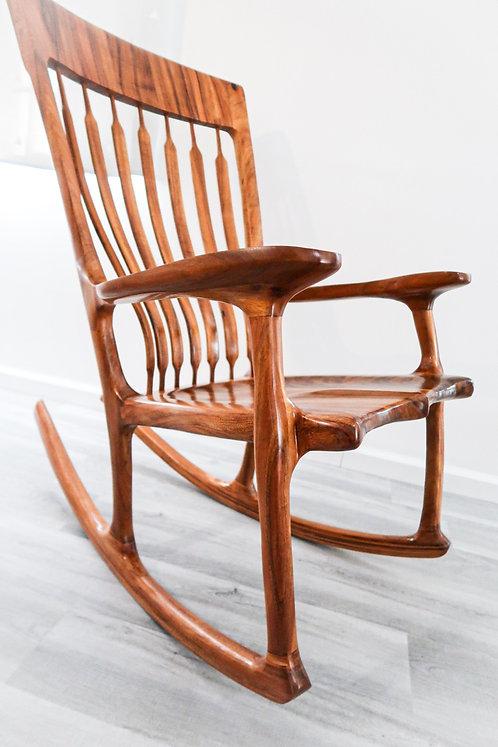 Koa wood Maloof Rocking Chair