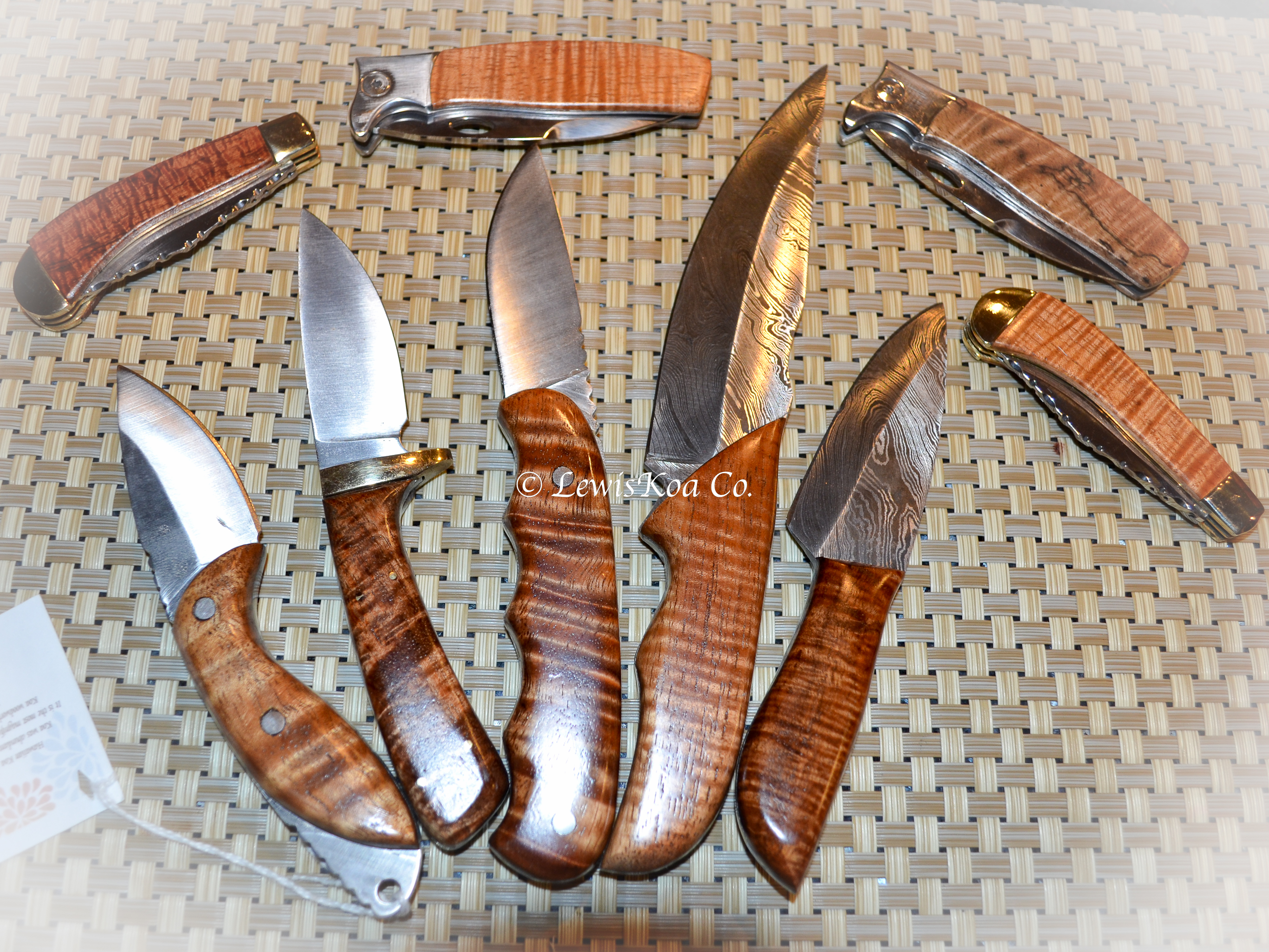 Koa knife collection