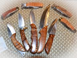 Koa knife collection