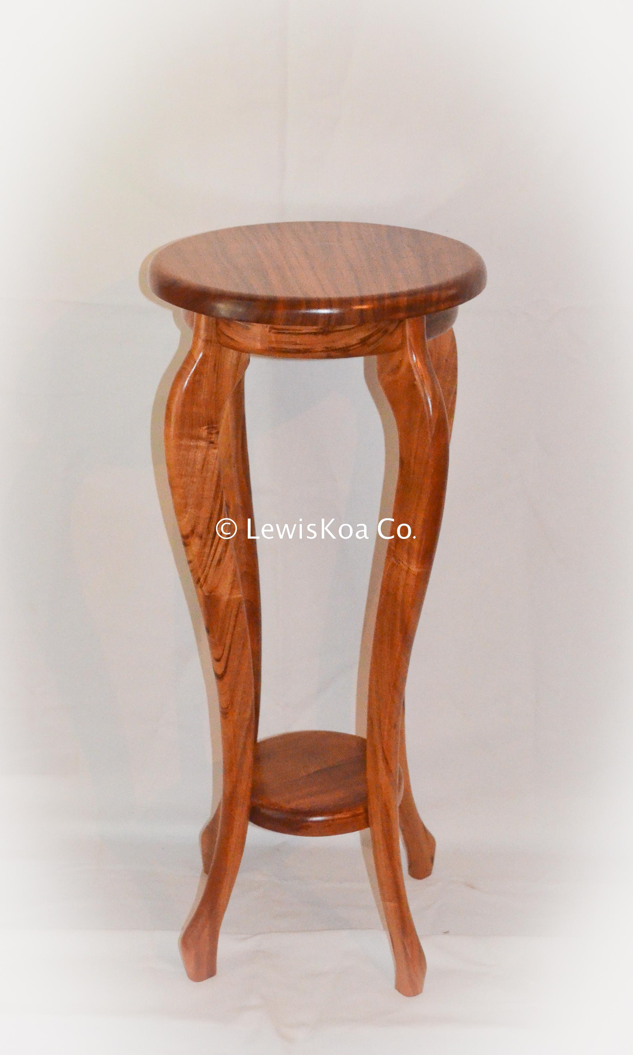 Hawaiian Koa wood Plant Stand