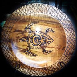 Koa turtle platter