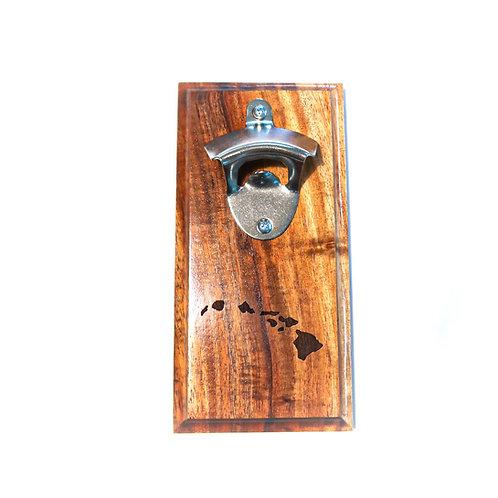 Koa Wall Bottle Opener, Islands