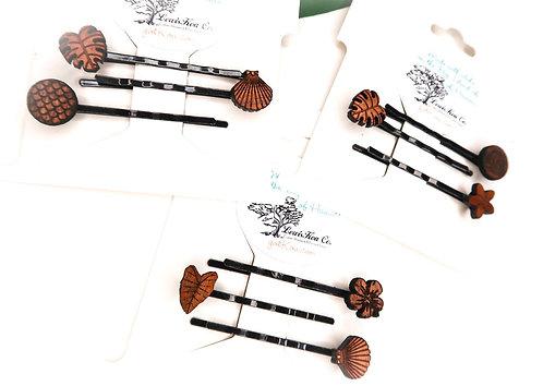 Koa Hairpins, set of 3