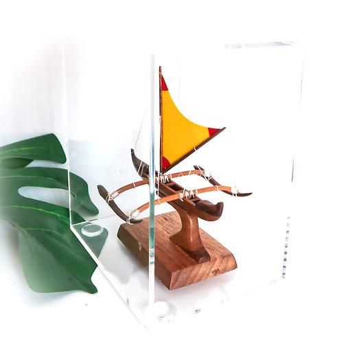 Mini Koa Fishing Canoe