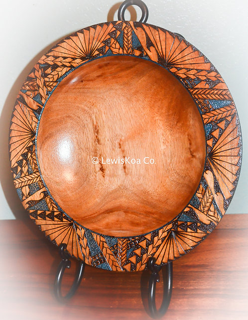 Tribal pyrography platter