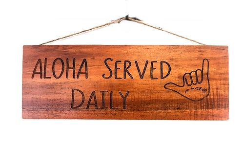 Aloha Wall Sign