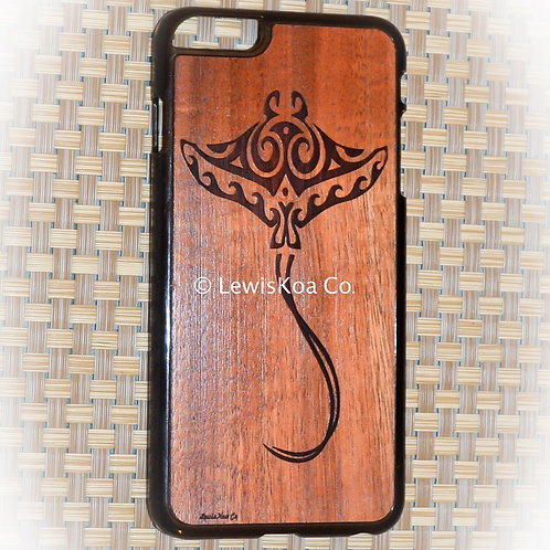 Koa Iphone Case, Manta ray