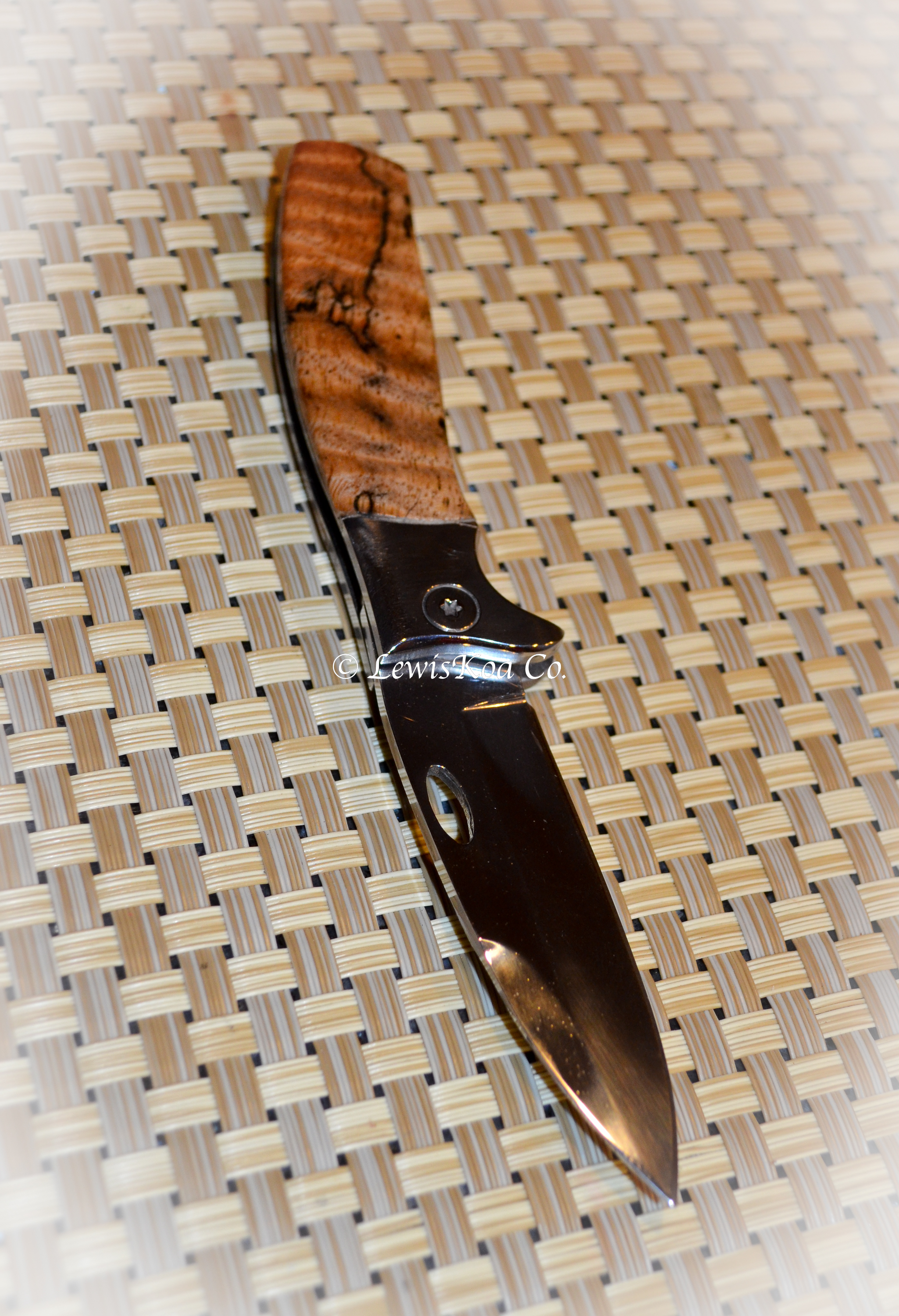 Koa Hawaiian fold out knife