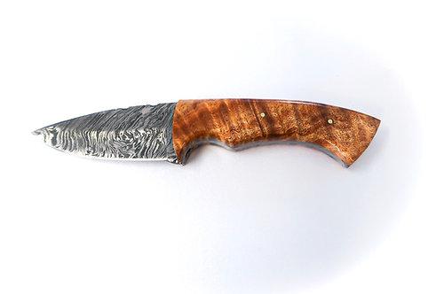 Curly Koa + Damascus Skinner Knife (1207)