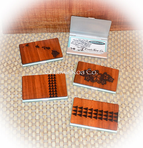 Koa Graphic Business Card Case