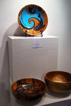 pyrography koa bowl art