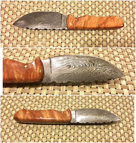 Curly Koa & Damascus Steel Knife (CKDK1)