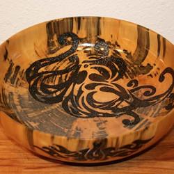 Hawaiian Koa tako woodburnt bowl
