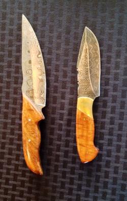 Koa wooden knives