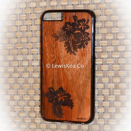 Koa Iphone Case, hibiscus