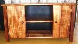 Koa wooden cabinet