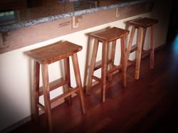 Koa wood bar stools