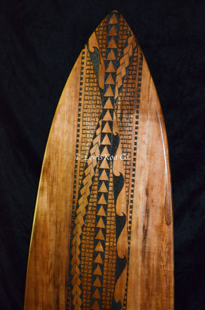 Surfboard pyrography