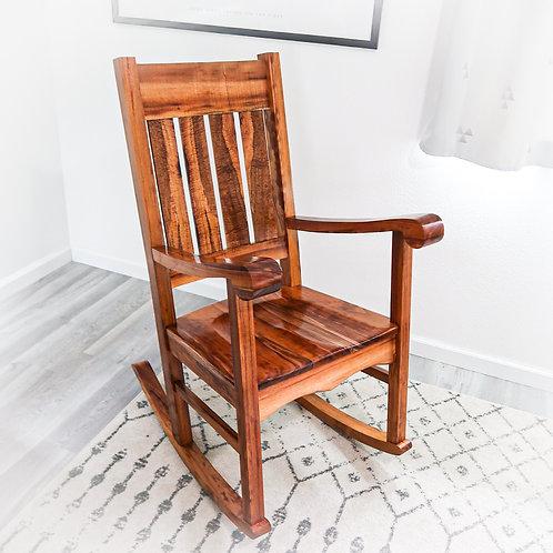 Queen Liliuokalani Koa Rocking Chair