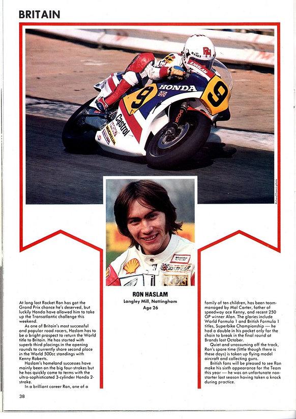 ron haslam motorcycle racer