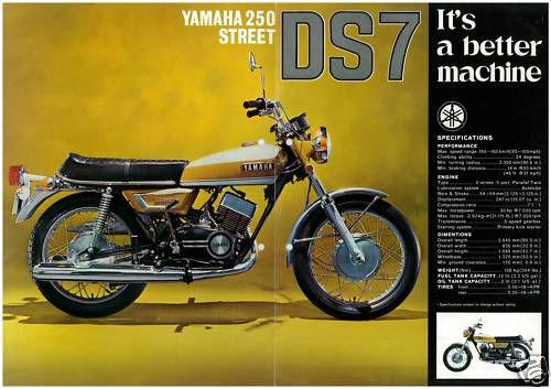 yamaha yds7 250 classic motorbike