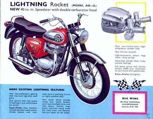 bsa lightning rocket