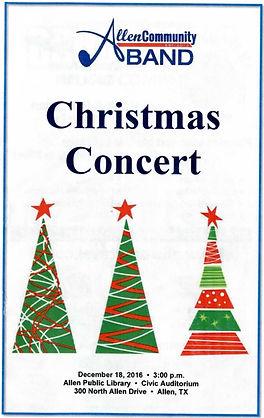 Concert Program