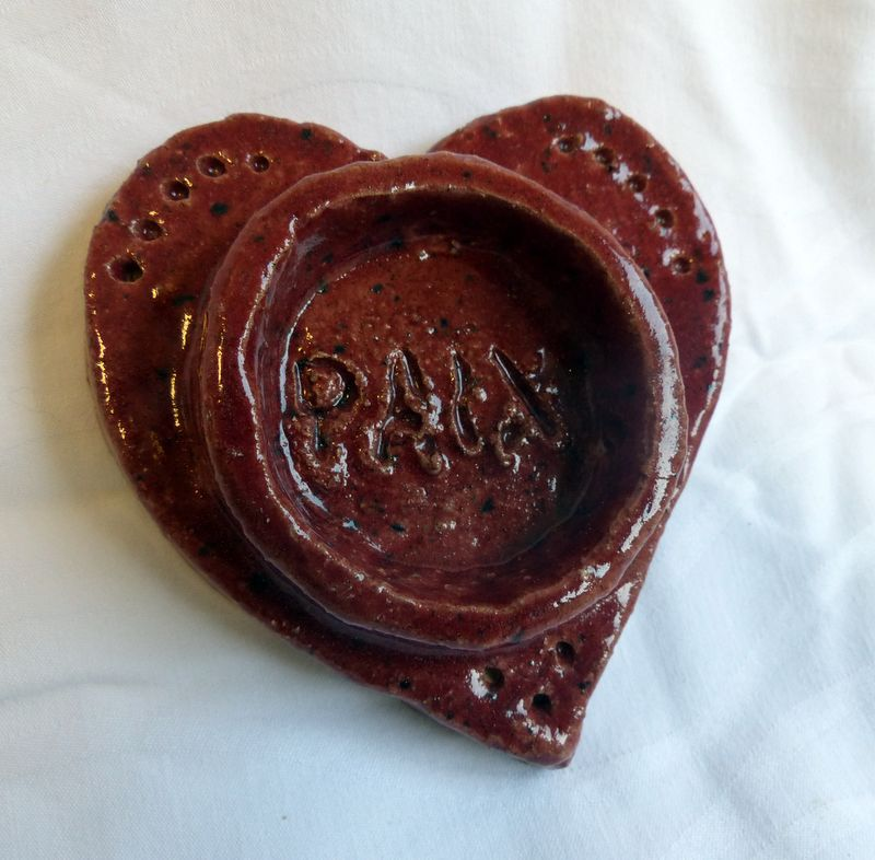 cœur message 8 cm  : 10€