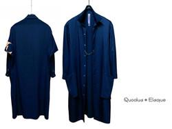 """Silky """"NYORAI"""" Long Shirt / Coat"""