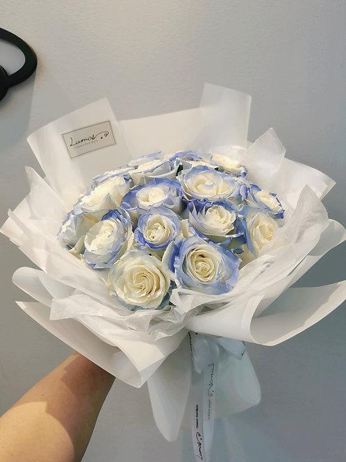 Ice Blue Rose Bouquet