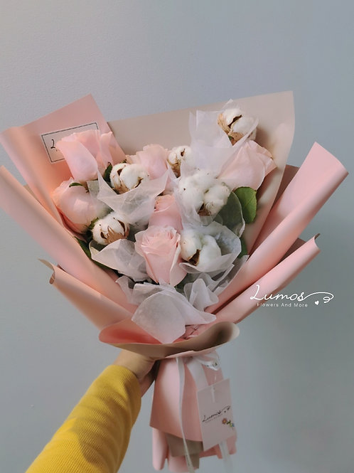 Cotton with Rose