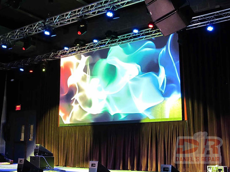 Stage LED video wall configuration