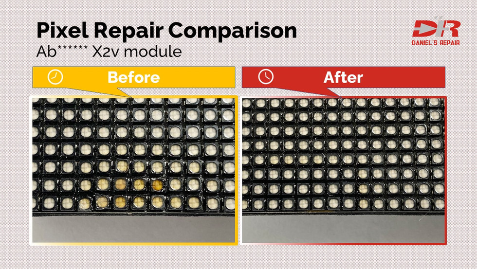 Absen X2v module repair comparison