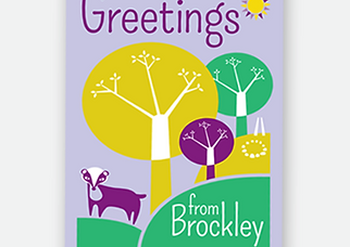Brockley greetings card by Pick Design